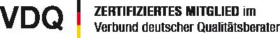 Zertifiziertes Mitglied im Verbund deutscher Qualitätsberater